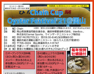 2/27:Chain Cup Oyster Festival'21@岡山