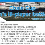 【受付中】Chain Cup Men's III-player battle①@兵庫