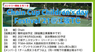 【中止】5/5:Chain Cup Children's day Festival'21@江坂TC